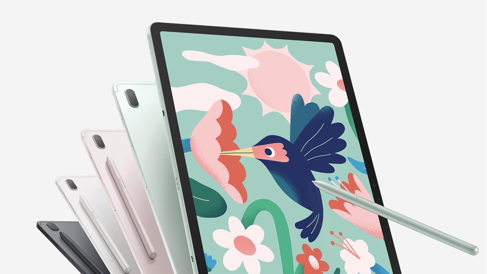 Samsung Galaxy Tab S7 FE 5G tablet enhances productivity with a large 12.4-inch display