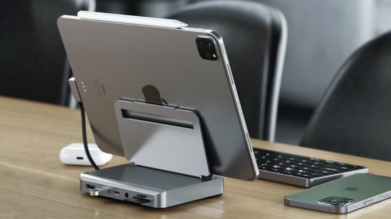 Satechi Aluminum Stand & Hub for iPad Pro provides 4K HDMI connectivity & USB-C charging