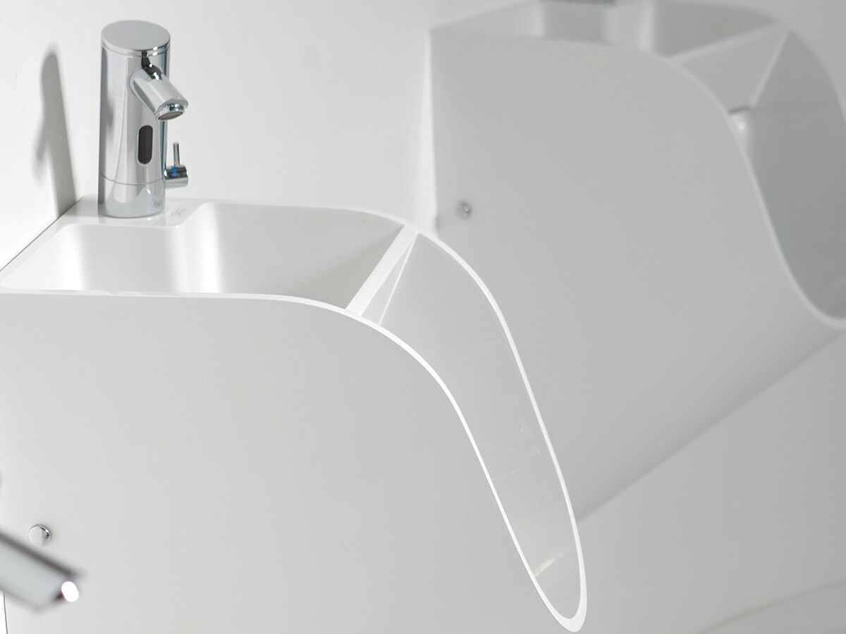 Stand urinal sink is a sleek sustainable option that saves you water, space, and time