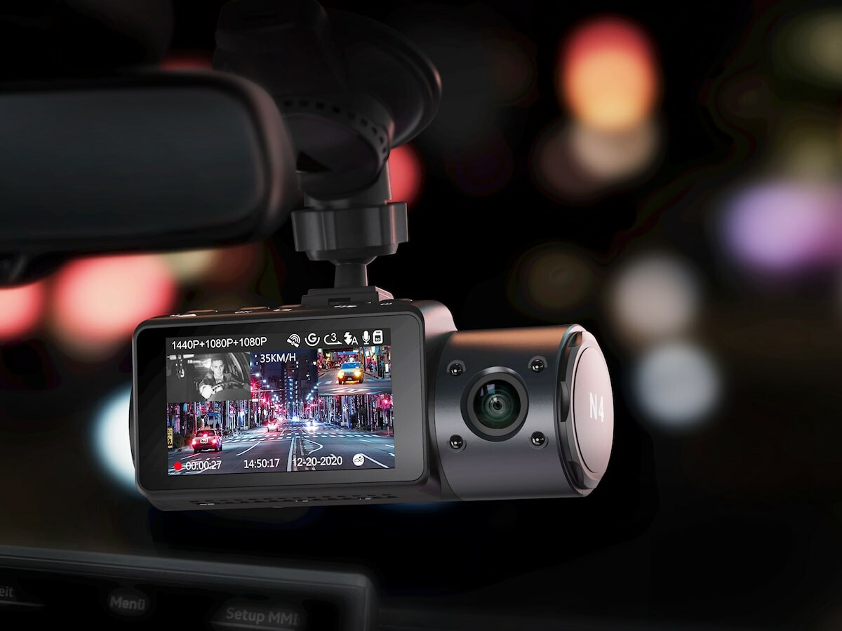 Vantrue N4 3-channel dash cam has 3 cameras and night vision for all-around protection thumbnail