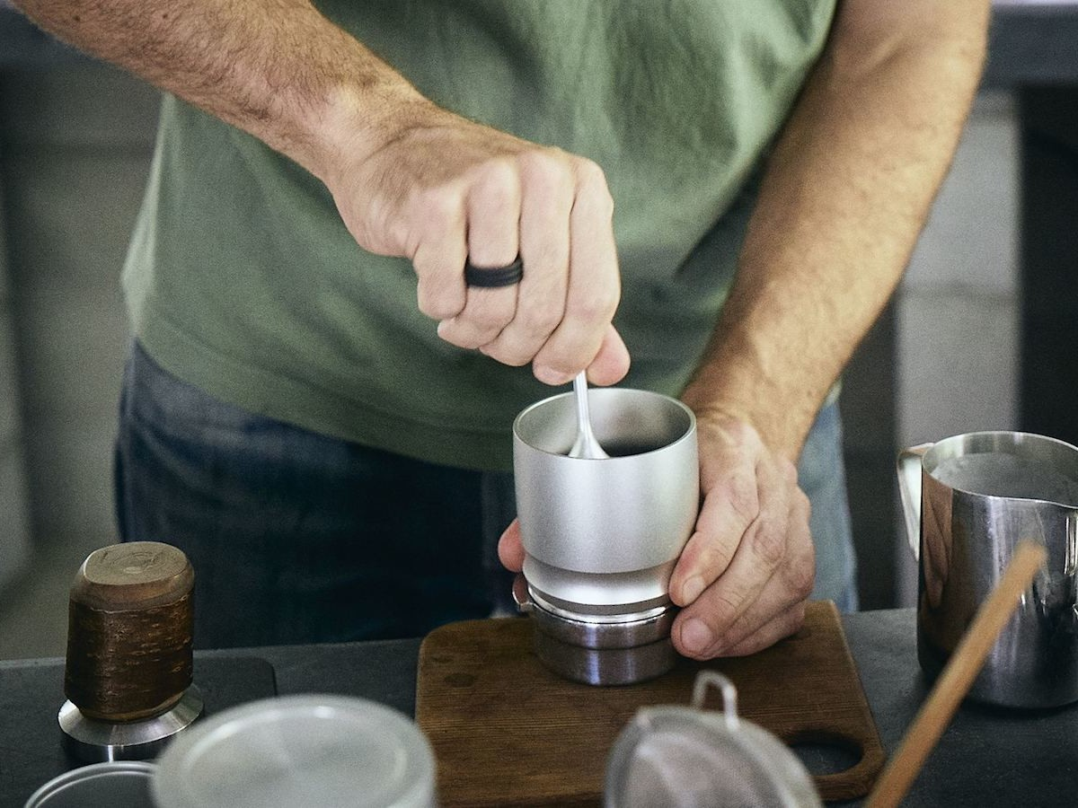 Weber Workshops Blind Shaker coffee grinding tool prevents coffee grounds from sticking