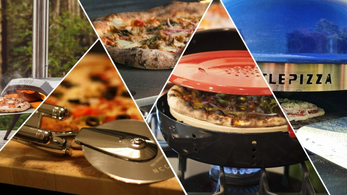 Pizza accessories and ovens to enjoy a hot dish with friends indoors or outdoors