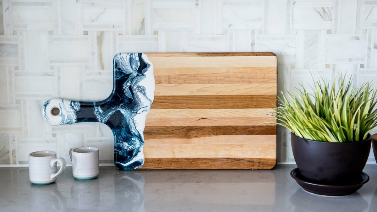 These unique wood epoxy cheese boards add an extra flair to your wine and cheese parties