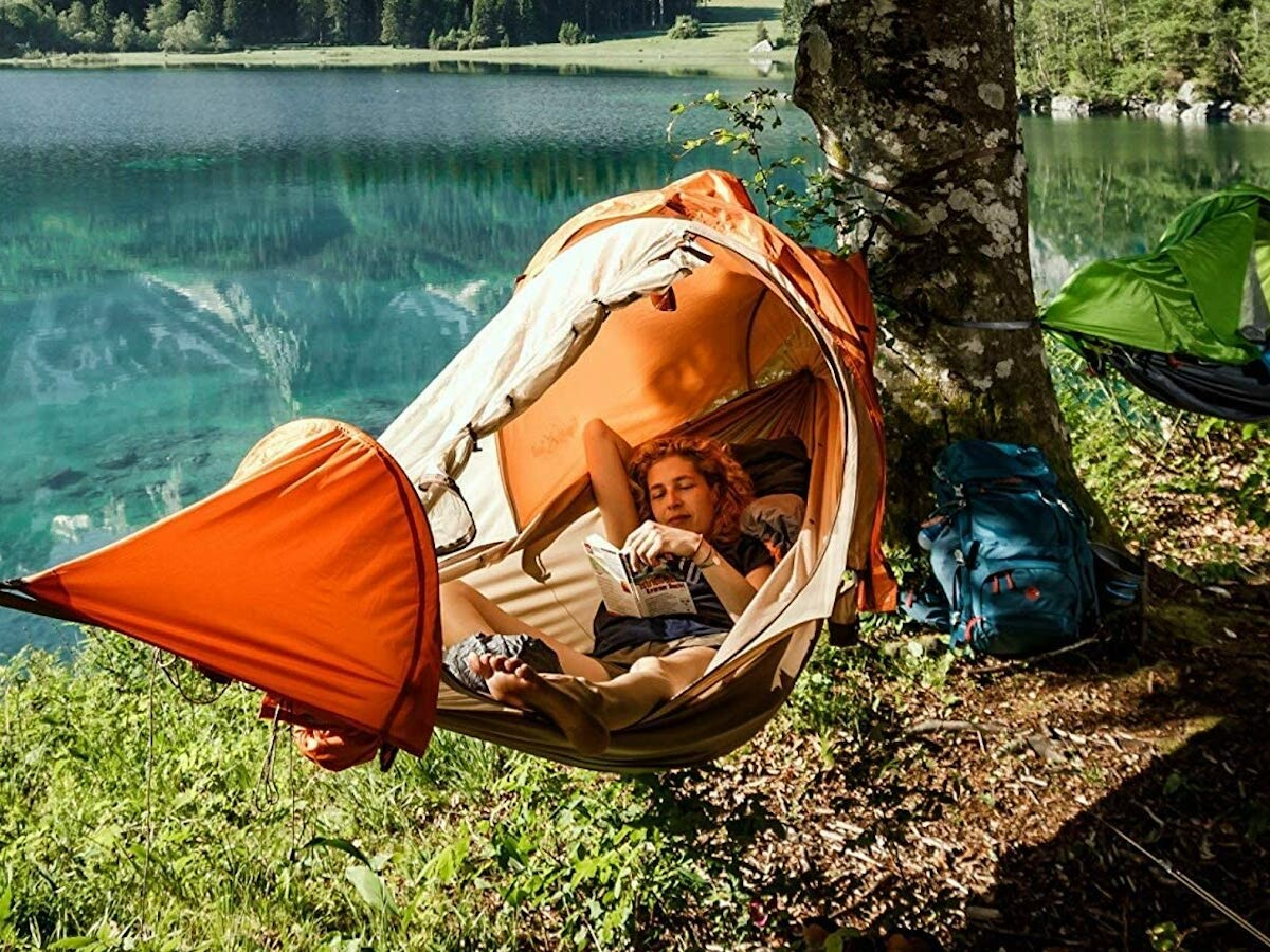 flying tent all-in-one hammock combines 4 functions in 1 useful, lightweight design