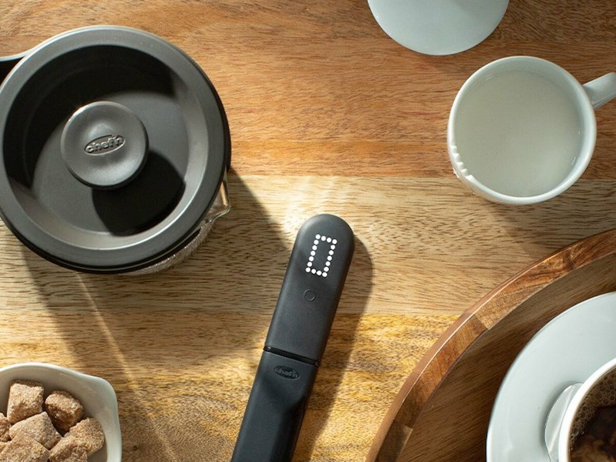 Chef'n Switchit French Press Stirrer and Timer is easy to use and brews delicious coffee