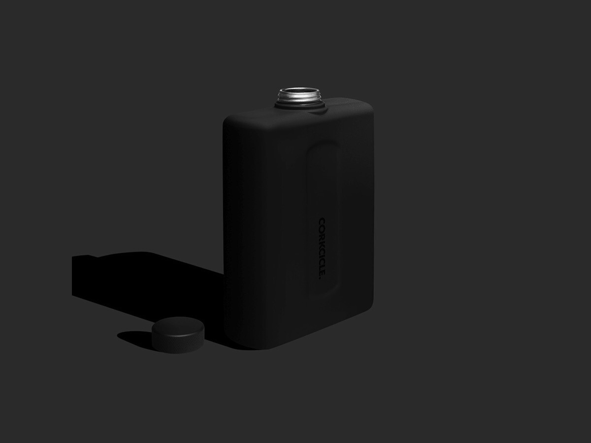 Corkcicle Flat Canteen has double walls to keep your drinks cold and has a compact design