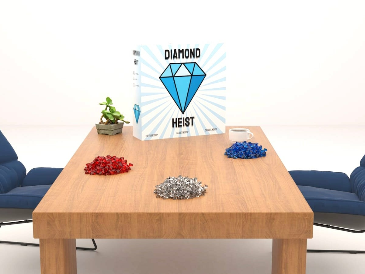 Diamond Heist strategy card game features a cast of unique characters for family fun