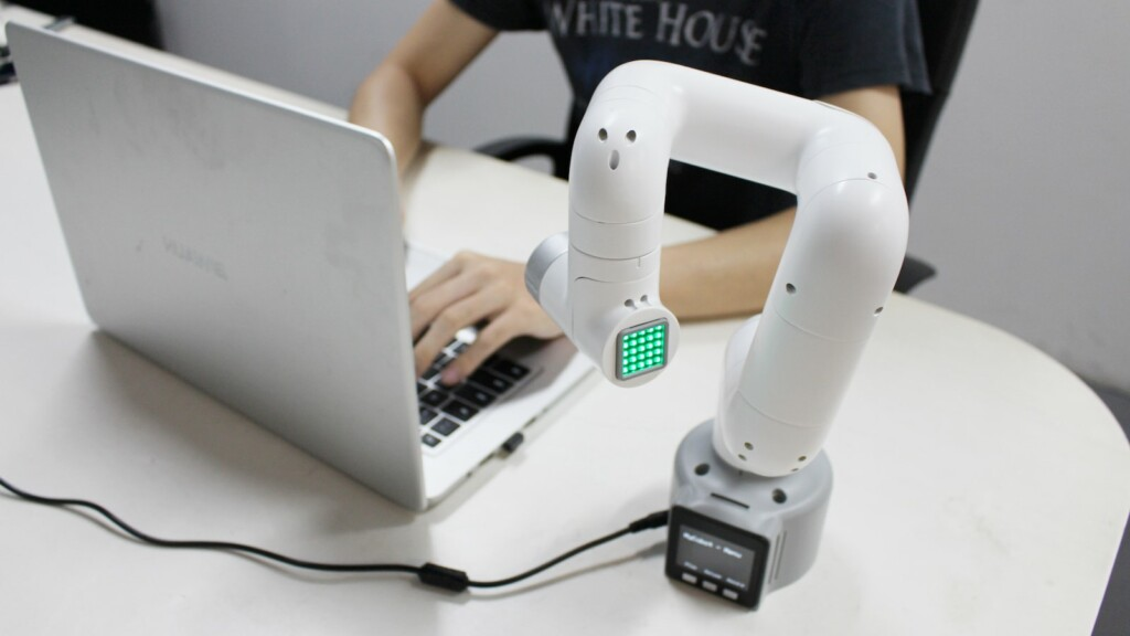 Elephant Robotics myCobot is a 6-axis collaborative robot with M5STACK