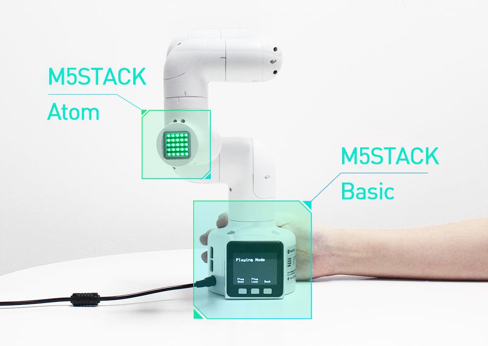 Elephant Robotics myCobot robot has customizable hardware and uses M5STACK