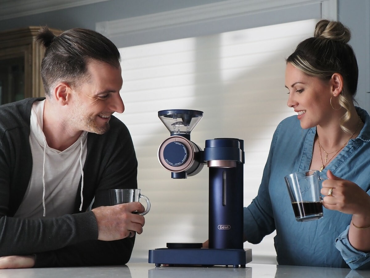 Gevi 2-in-1 Coffee Grinder & Pour-Over Machine produces expertly precise cups of coffee