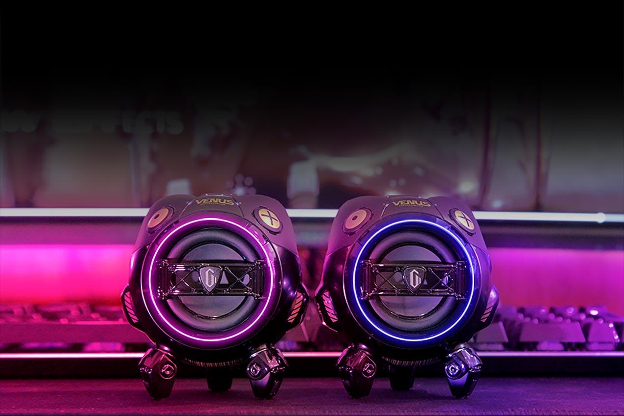 The GravaStar Venus portable speaker is a cyberpunk audio powerhouse with RGB lighting
