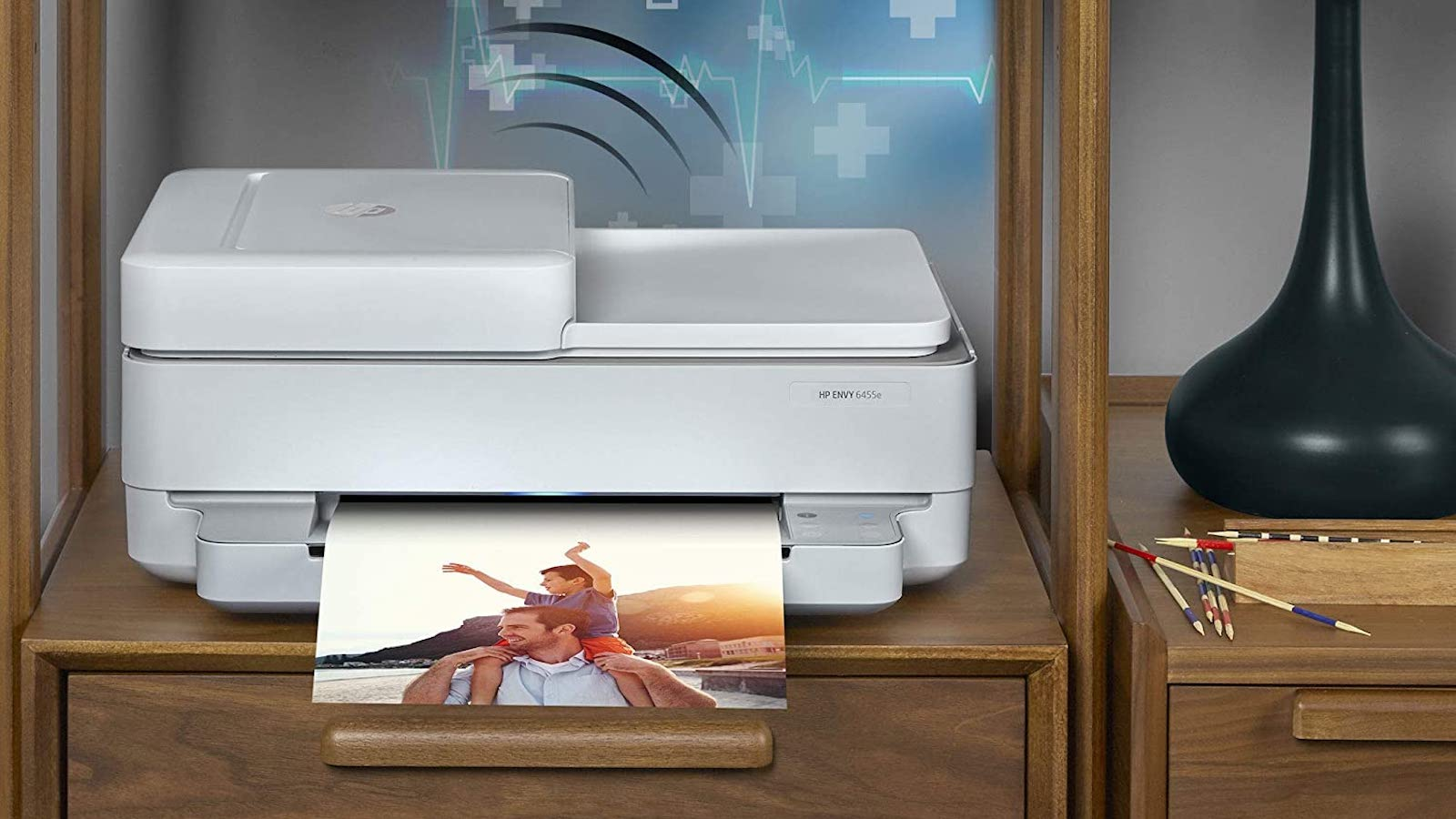 HP ENVY 6455e All-in-One Printer includes Wi-Fi connectivity & print speeds of up to 7 ppm