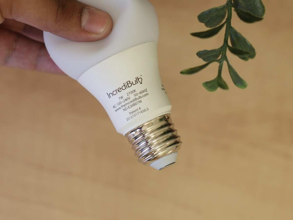 IncrediBulb shatterproof LED bulb is energy efficient and produces beautiful light