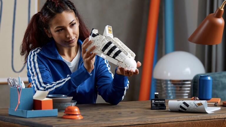 LEGO adidas Originals Superstar athletic shoe building set features a shell toe shape