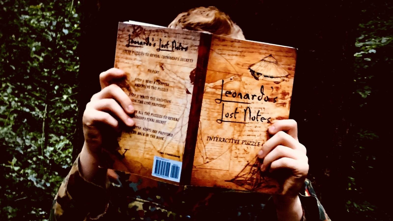 Leonardo's Lost Notes interactive puzzle book features sketches from Leonardo da Vinci