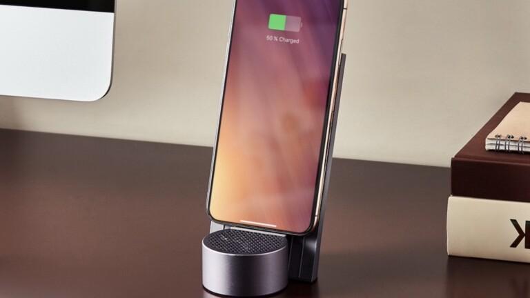 Lexon City Energy 10W elegant wireless charger doubles as a 3W Bluetooth speaker