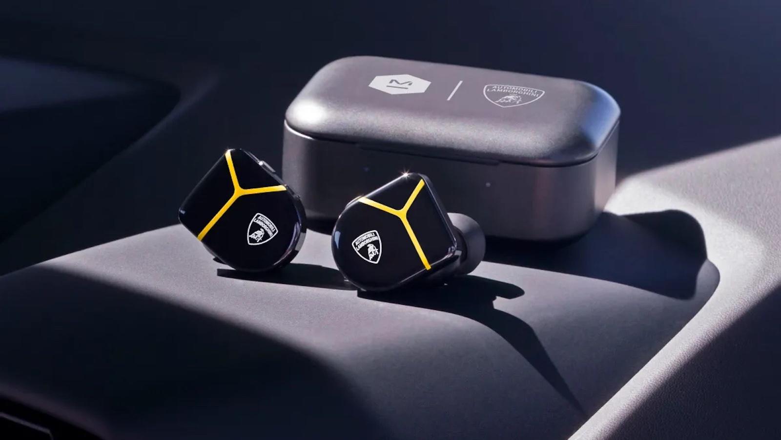 Master & Dynamic x Lamborghini MW07 Plus earbuds have an iconic sports car design