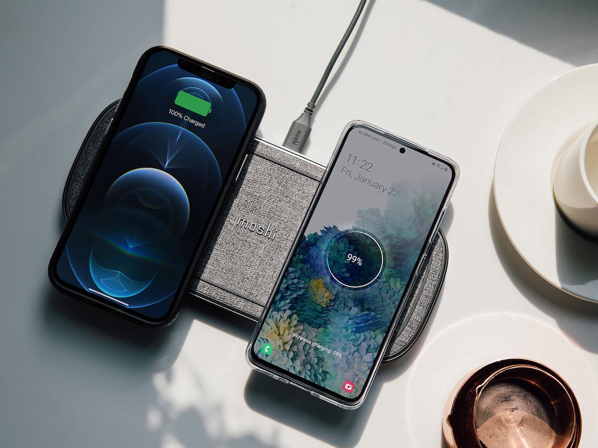 Moshi Sette Q dual wireless charging pad has 2 Qi-certified EPP wireless charging modules