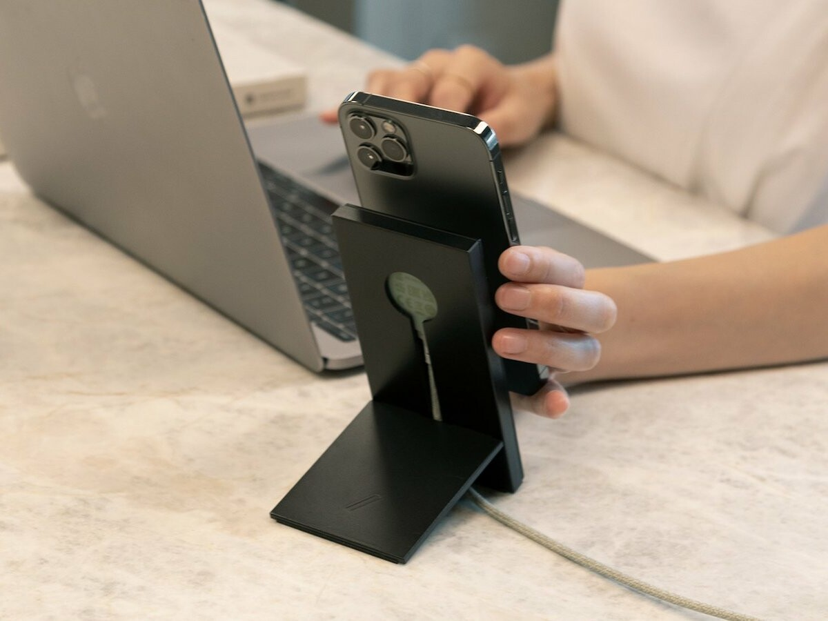 Native Union MagSafe Booster Duo iPhone 12 charger and stand elevate your charging