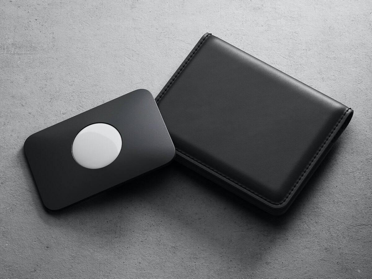 Nomad Card for AirTag wallet tracking is credit-card size and helps you track your wallet