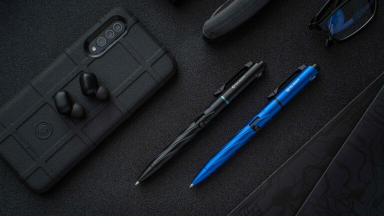 Open Pro EDC Penlight includes a versatile green laser and LED light for use in the dark