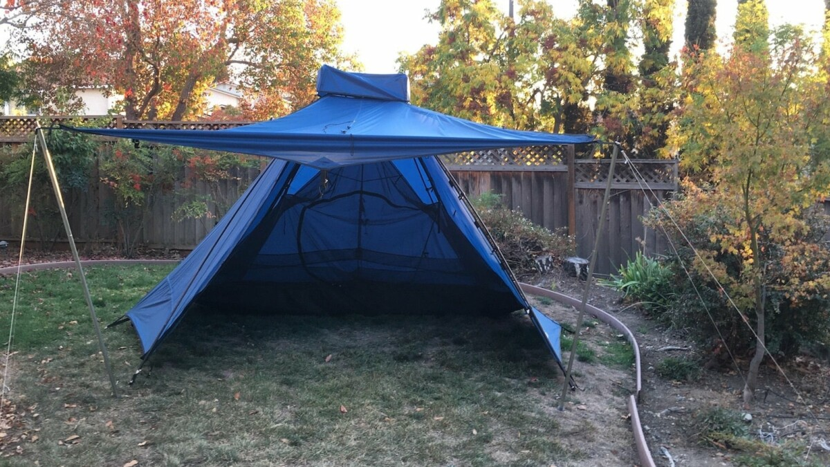 This practical camping tent is super easy to set up and has room for up to 6 people