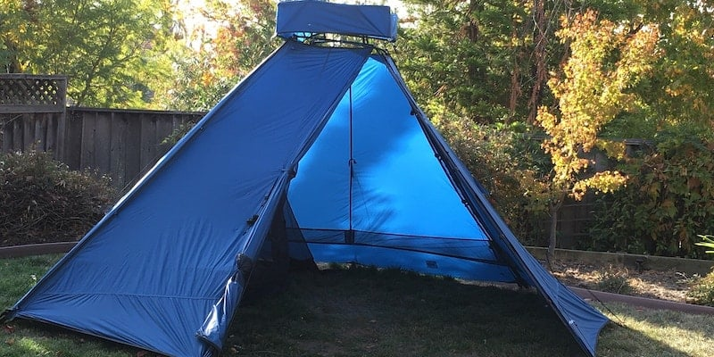 This practical camping tent is super easy to set up and has room for up to 6 people Outdoor Innovations The Pathfinder versatile tent