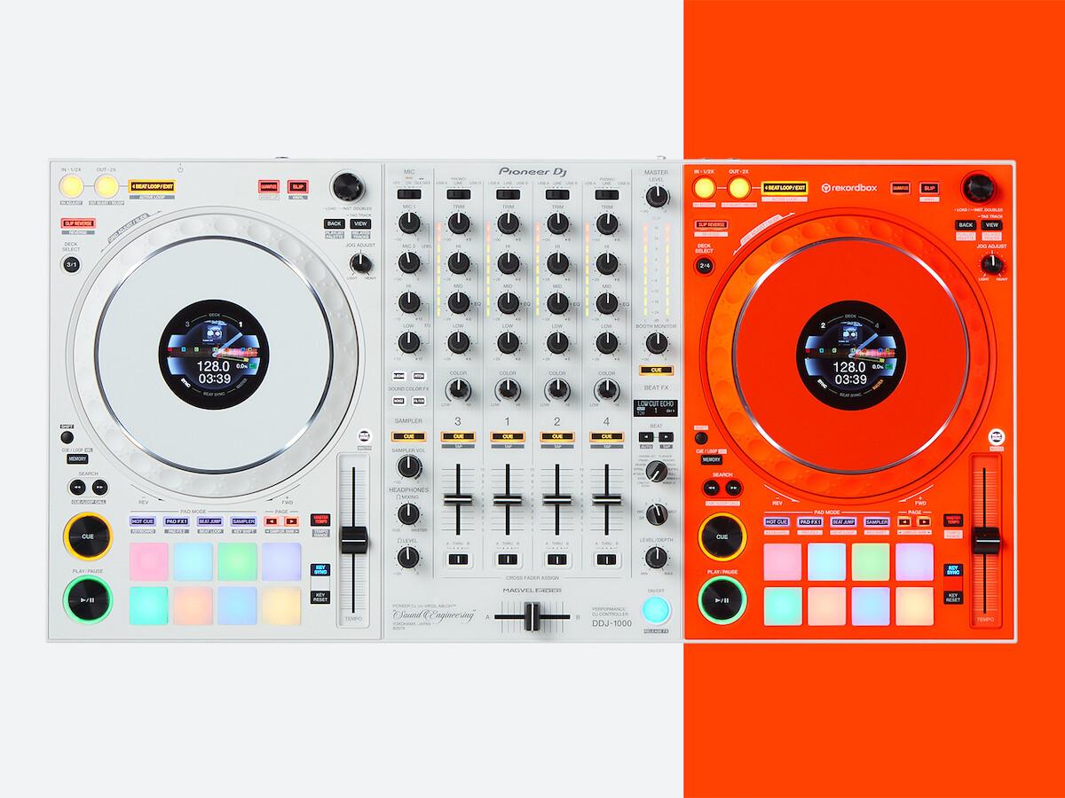 Pioneer DJ x Off-White DDJ-1000-OW DJ controller features a fluorescent orange design