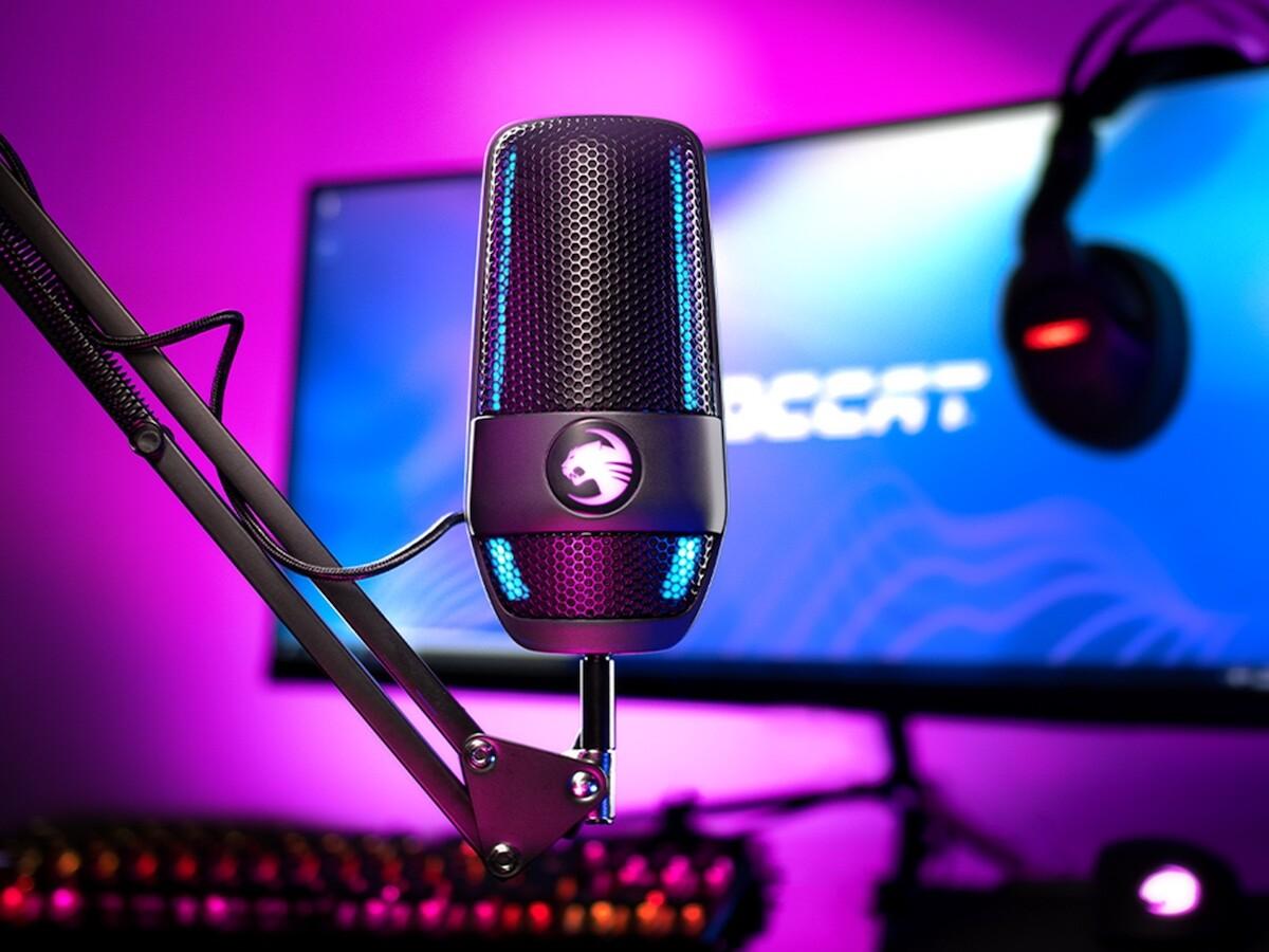 ROCCAT Torch microphone has a dual condenser capsule design and 24-Bit audio quality