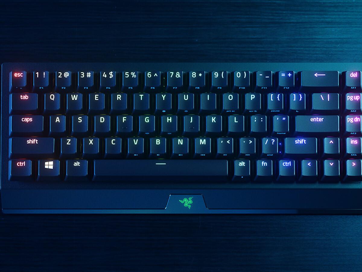 Razer BlackWidow V3 Mini HyperSpeed wireless gaming keyboard has Razer Chroma RGB