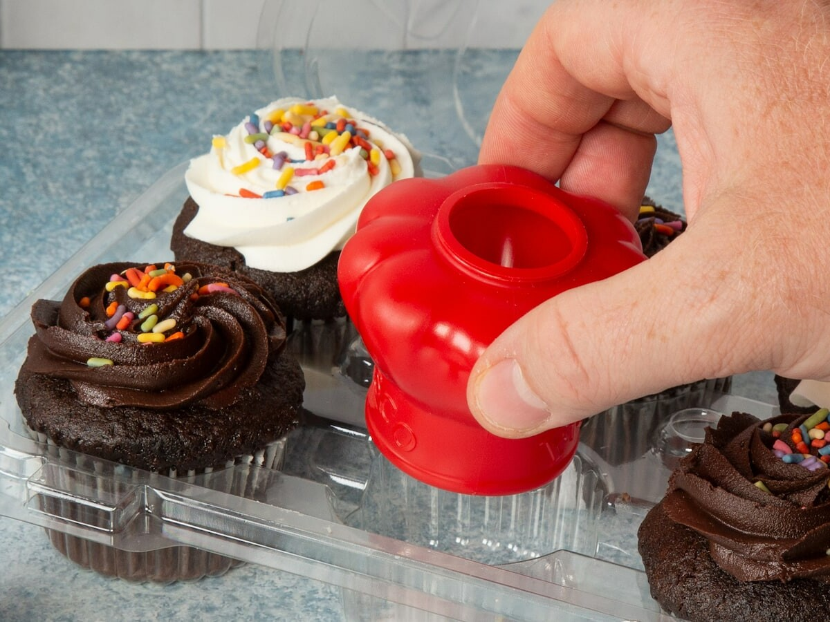 Red Fresco Chef Hat baked goods preserver keeps confections fresher and lasting longer