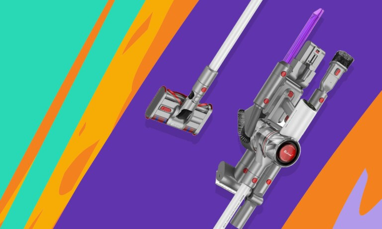 This cordless stick vacuum is super quiet at just 65 dB, keeping it gentle on your ears