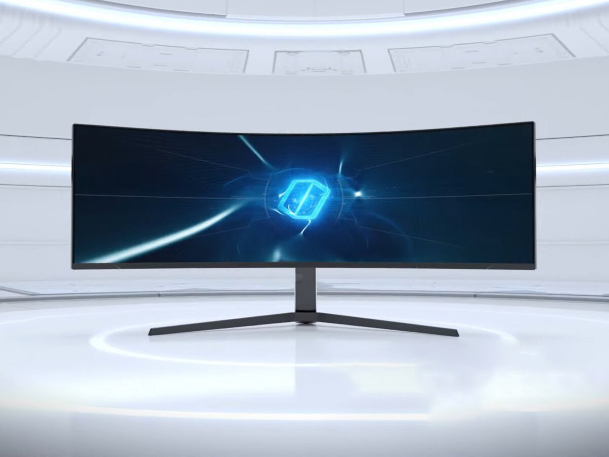 Samsung Odyssey Neo G9 gaming monitor has a 32:9 aspect ratio and a curved screen