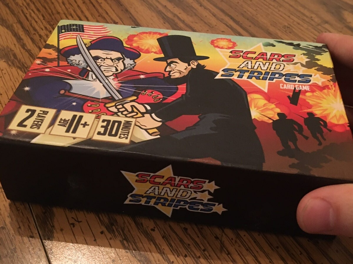 Scars and Stripes Deck-Building Card Game provides a fun and humorous spin on politics