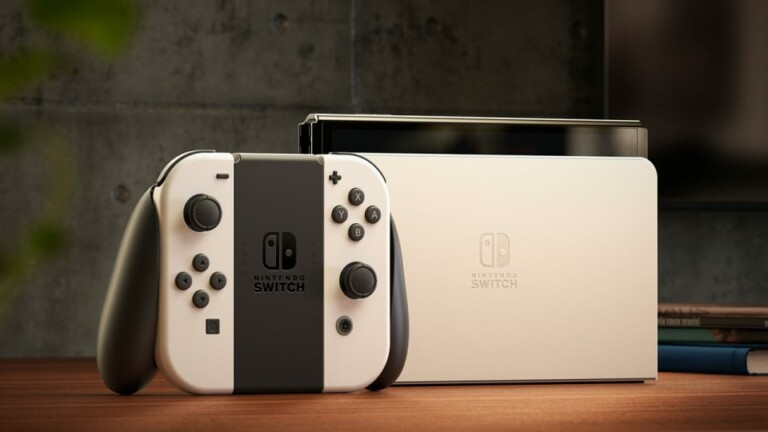 The Nintendo Switch OLED has a larger screen, increased storage, and a wired LAN port