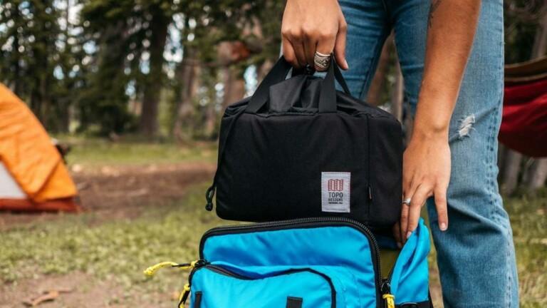 Topo Designs Camera Cube has customizable compartments that make any bag a camera bag
