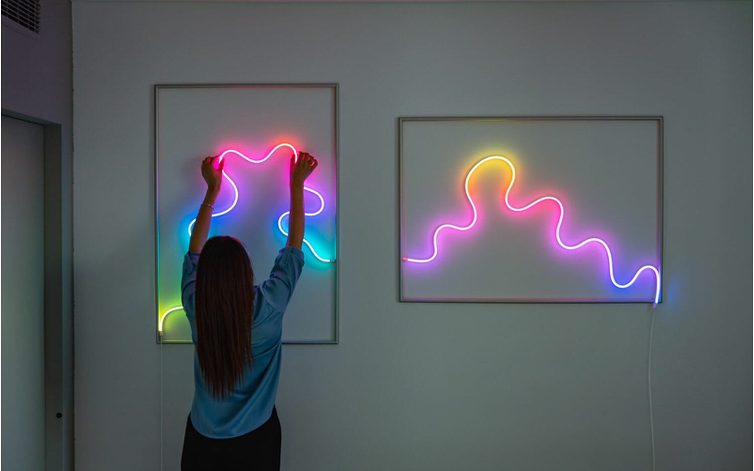 Light up your life with shapeable neon LED tube lighting that syncs to your music