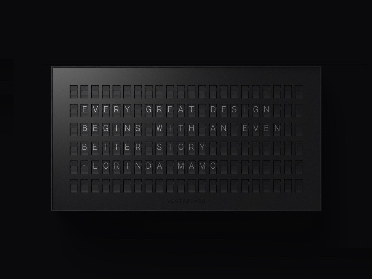 Vestaboard messaging display combines the best of the physical and digital with 132 'bits'