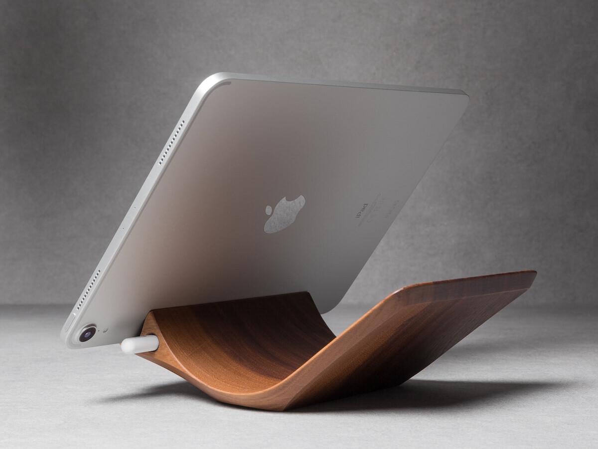 YOHANN iPad Pro Stand with Apple Pencil Holder keeps your Apple Pencil nearby at all times