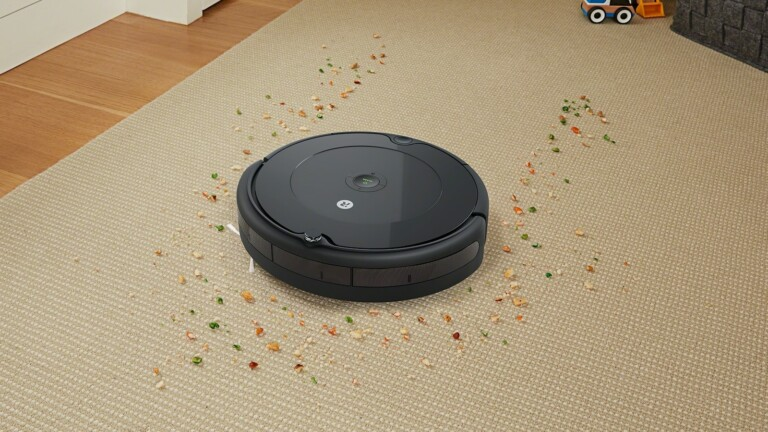 iRobot Roomba 694 robot vacuum has the 3-stage cleaning system and a stylish look