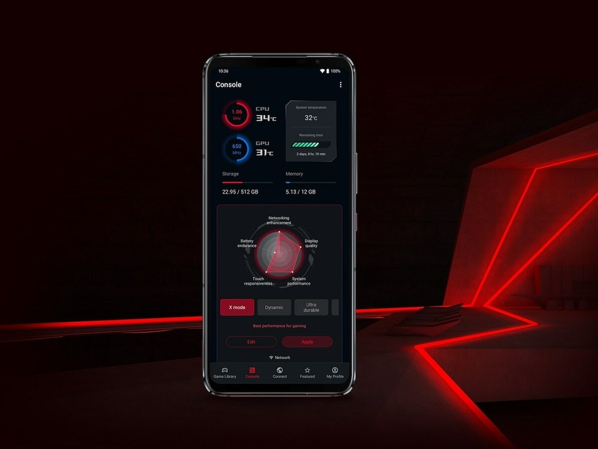 ASUS ROG Phone 5s features a 3.0 GHz CPU clock for matchless mobile processing power