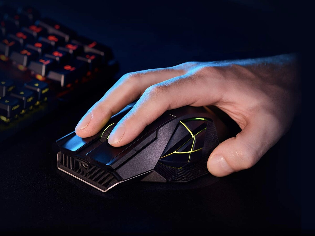 ASUS ROG Spatha X gaming mouse has dual-mode connectivity and a magnetic charging stand