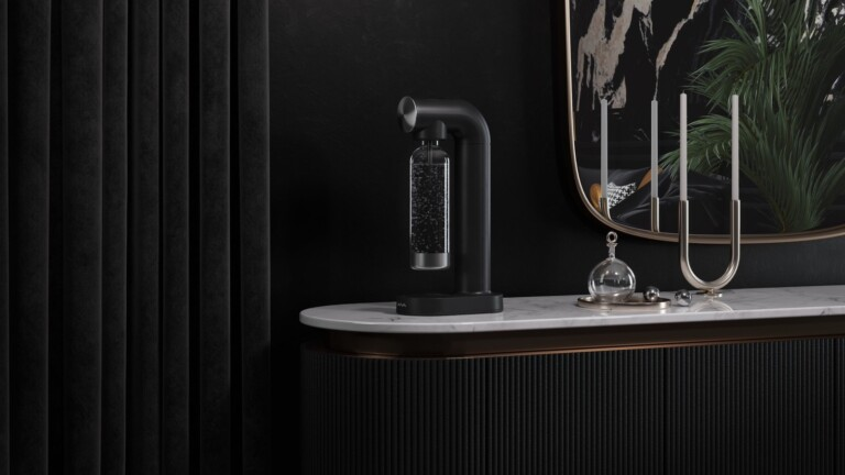 AWA Carbonator boasts a Scandinavian design and produces sparkling water in your kitchen