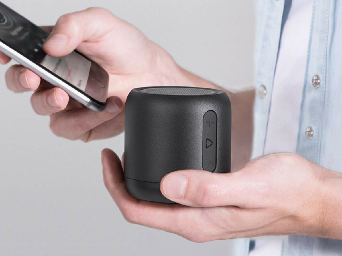 Anker SoundCore Mini portable Bluetooth speaker is palm-size and runs for up to 15 hours thumbnail