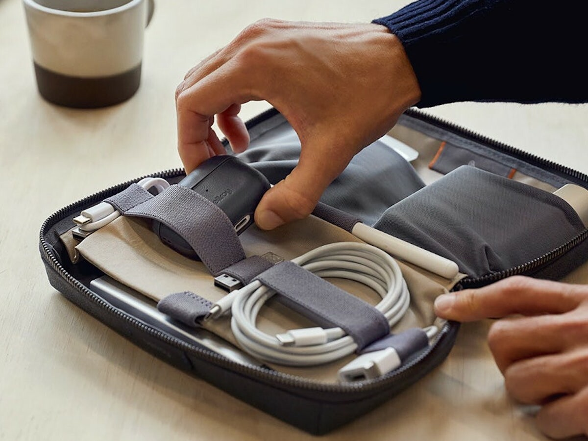 Bellroy Tech Kit organizes both large and small tech items in one handy, stylish case