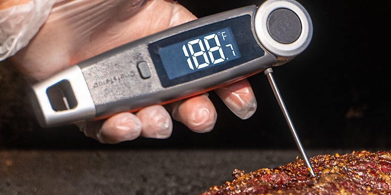 This BBQ thermometer is super accurate and gives you a fast readout in 1–3 seconds