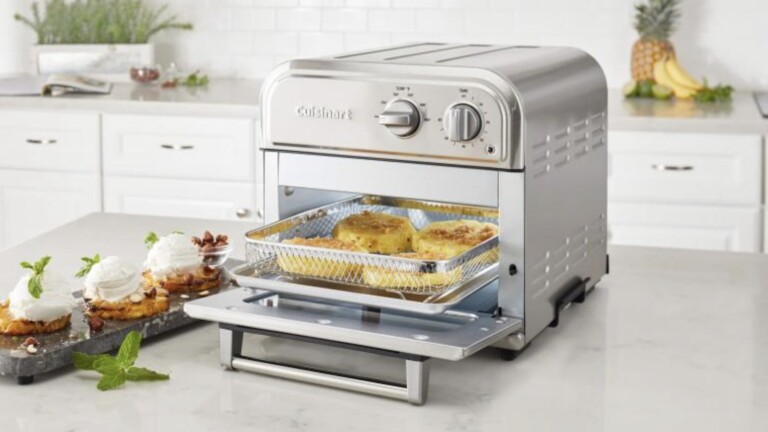 Cuisinart AFR-25 Compact AirFryer has a special motor fan and heater that replicate frying