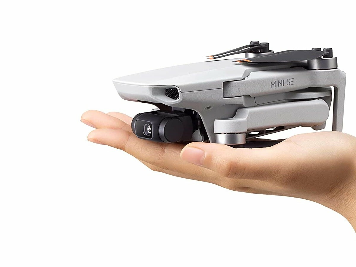 DJI Mini SE compact camera drone weighs less than a smartphone and has a 3-axis gimbal