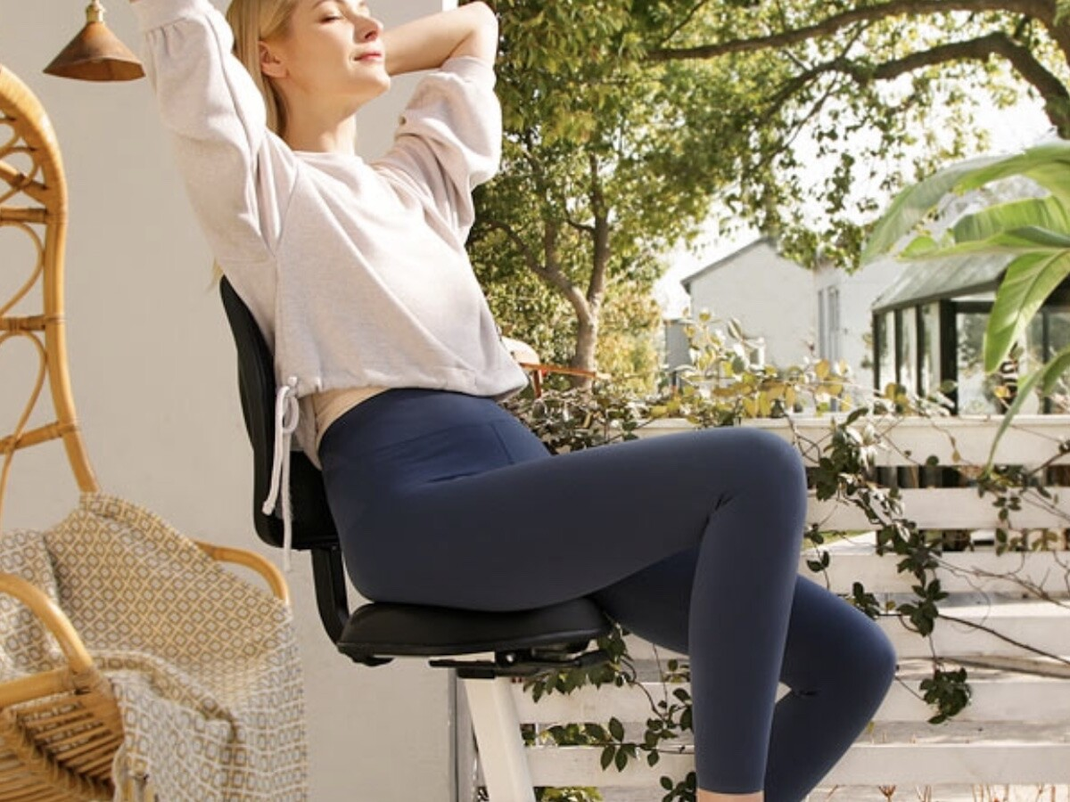 FlexiSpot Sit2Go 2-in-1 Fitness Chair is super comfortable and has an integrated bike