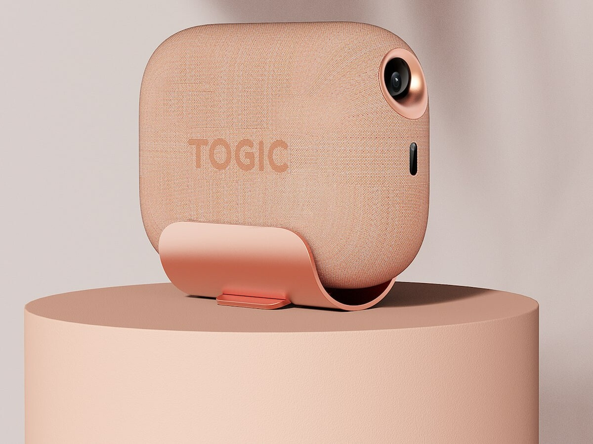 Fu Fu Togic One modern multipurpose projector can be adjusted to different positions